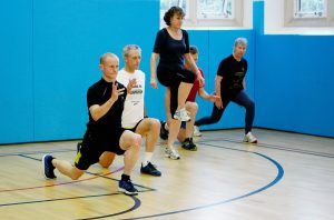 Running drills and strengthening exercises